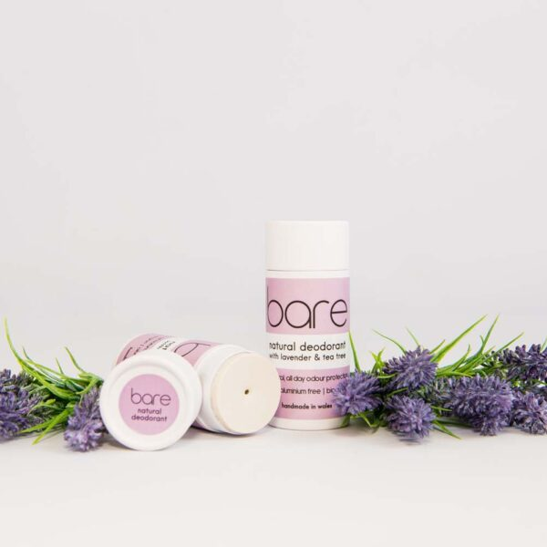 Natural Deodorant with Lavender and Tea Tree in Paper Tube in Paper Tube